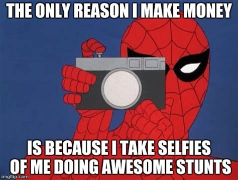 spiderman camera meme imgflip
