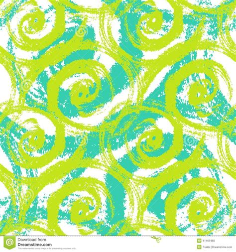 20973 Bold Retro Pattern S M L seamless pattern with bold swirling brush strokes stock