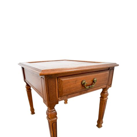 90% OFF   Single Drawer Wood End table / Tables