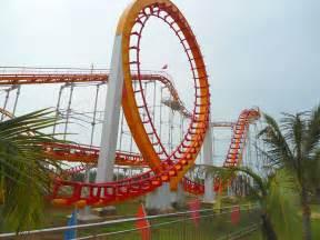 Park Roller Coaster File Baishamen Park Amusement Park Roller Coaster