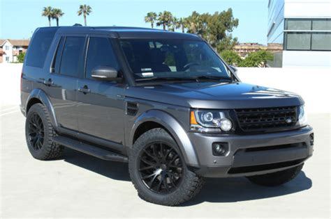 custom land rover lr4 15 land rover lr4 edition custom blacked out one