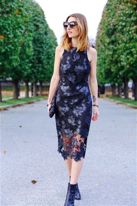 black ankle boots zoe boots black lace midi dress