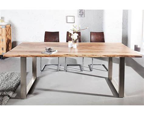 Exceptionnel Table De Salle A Manger Carre #8: table-bois-massif-200-cm-thea-acacia-huile-chrome.jpg