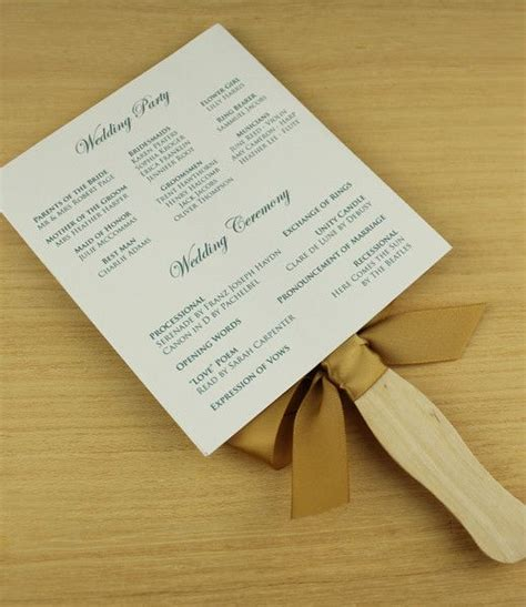 paddle fan wedding program template vintage floral clover