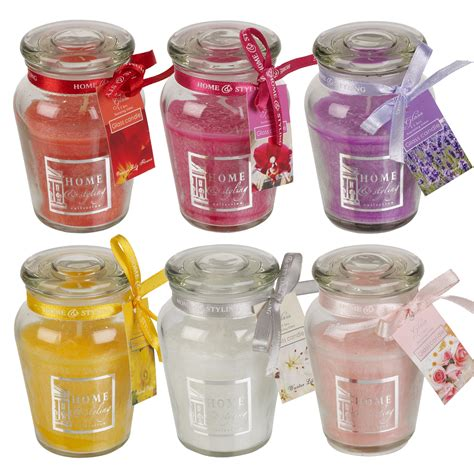 Glass Candle Jars 11 Hr Hour Scented Candle In Airtight Glass Jar With Lid