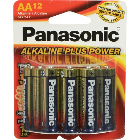 charger battery aa panasonic aa 1 5v alkaline batteries 12 pack pan12aa b h