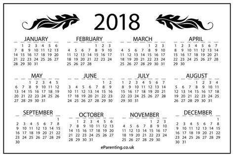 printable calendar black and white 2018 free printable calendar