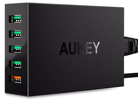 Aukey 36w Travel Size Fast Rapid Usb Wall Charger Dual Port Eu P aukey charger usb 5 port qc 3 0 aipower pa t15 black jakartanotebook