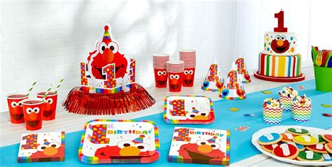 elmo st birthday party supplies party city