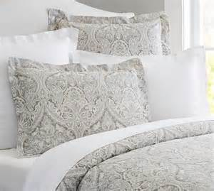 duvet covers mackenna paisley duvet cover sham blue pottery barn
