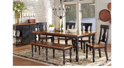 cottage dining room furniture hillside cottage black 5 pc dining room rectangle