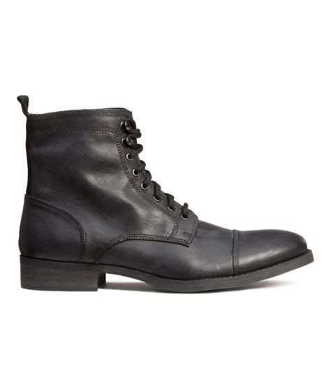 m s mens boots h m boots in gray for lyst