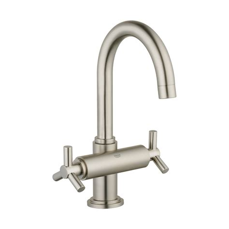 shop grohe atrio brushed nickel 2 handle single