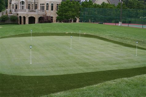 backyard golf practice tour greens atlanta artificial golf greens backyard