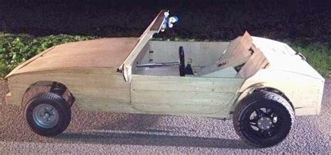 Teens Pulled Over in Their Almost Street Legal (And Totally Cool) DIY Wooden Car « Hacks, Mods