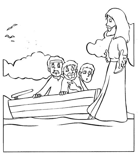 coloring pages jesus walks on water jesus walks on the water