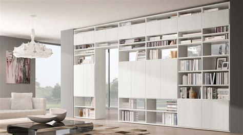 parete divisoria libreria libreria bifacciale componibile systema b sololibrerie