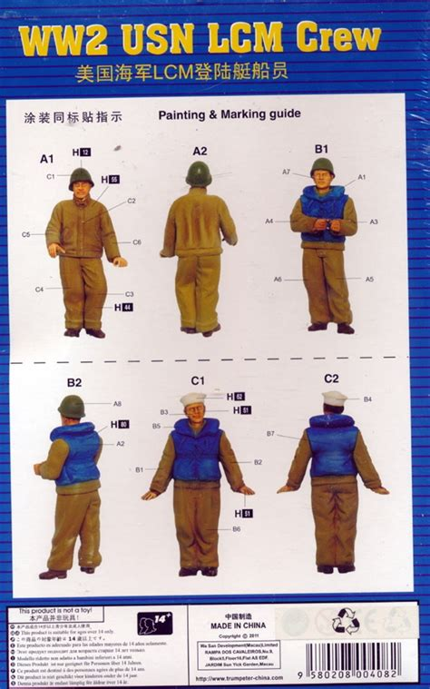 Trumpeter Ww2 Usn Lcm Crew Model Kit Figure 1 35 ww2 usn lcm crew 1 35 fs