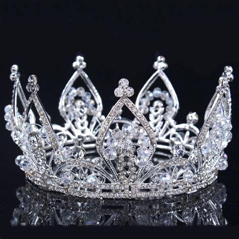 Wedding Crown 2016 new bridal princess austrian stunning hair tiara wedding crown veil headband