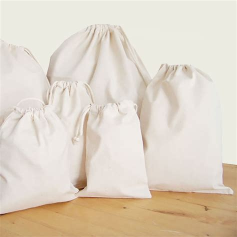 Handmade Drawstring Bags - drawstring bag 100 cotton for promotional use packaging