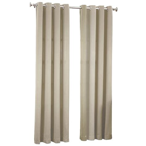 curtains 54 x 63 sun zero stone gregory room darkening grommet top curtain