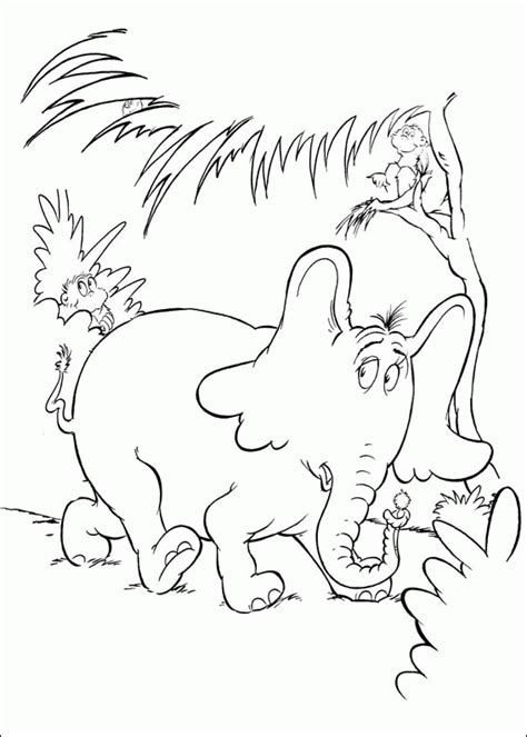 coloring pages horton the elephant horton hears a who coloring pages coloringpagesabc com