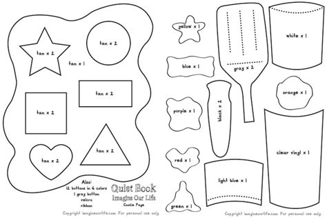 printable shape book templates cookie shapes colors quiet book page imagine our life
