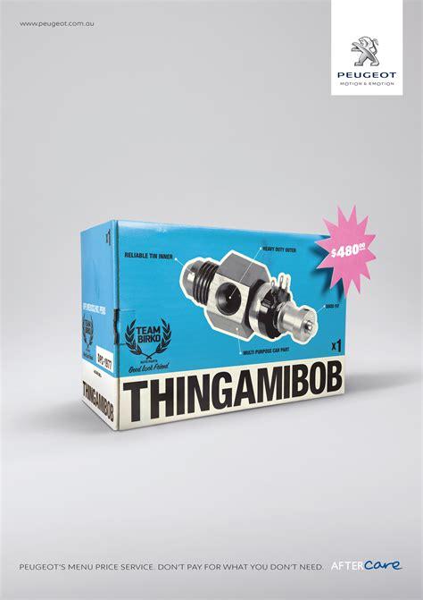 outdoor ad peugeot genuine parts thingamibob