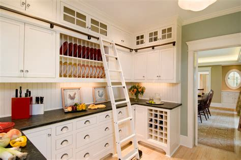 library ladder in kitchen the beech house traditional kitchen boston by