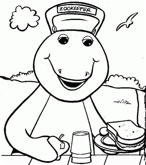 barney coloring pages pdf cartoon barney and friends baby bop coloring sheets