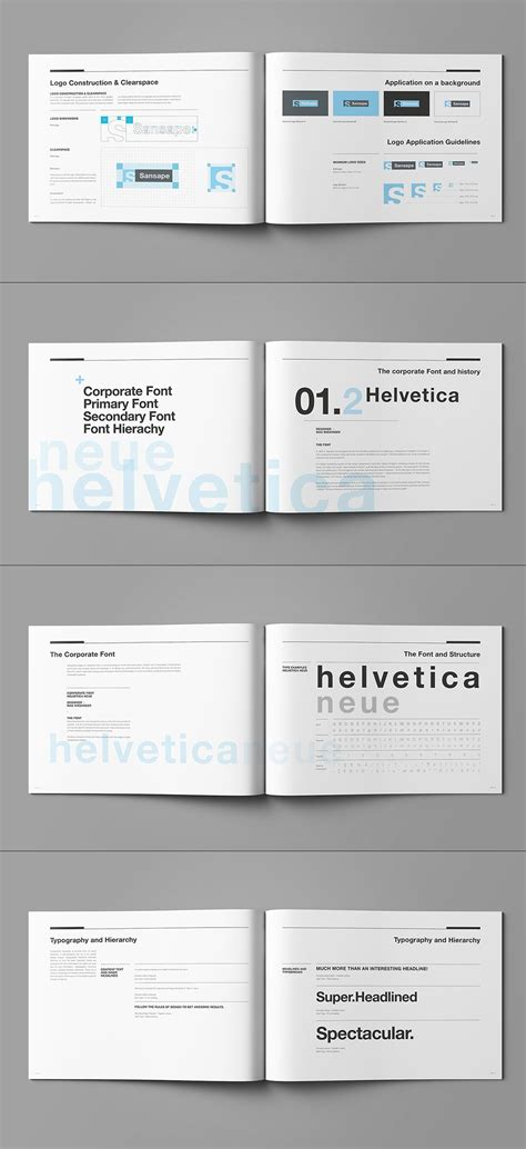 Brand Manual And Identity Template Corporate Design Brochure With 44 Pages And Real Text Style Guide Template Indesign