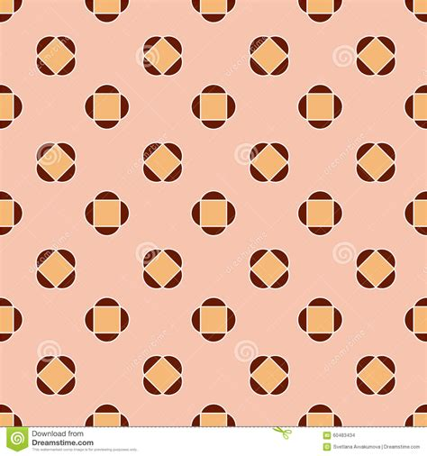 pattern brown pink abstract seamless pattern brown and pink stock vector