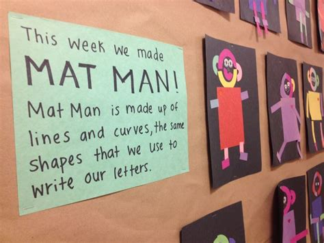 printable mat man shapes mat man curriculum pinterest