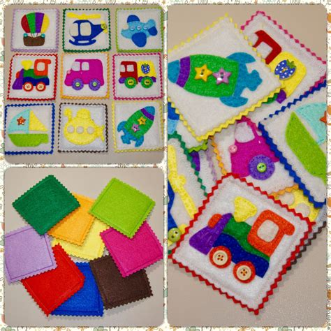 Book Toys Flash Card flashcards made of felt for children 1 years educational