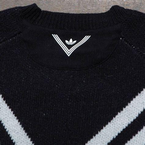 adidas knit sweater adidas white mountaineering 3 stripes knit sweater black
