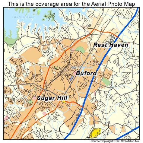buford ga georgia aerial photography map images frompo