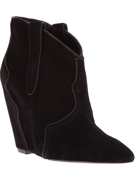 ash janet concealed wedge boot in black lyst