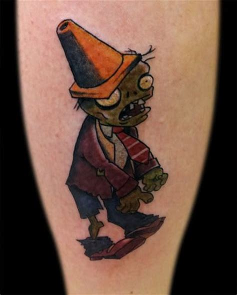 tattoo extreme plantas vs zombies conehead zombie from plant vs zombie tattoos pinterest