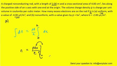 cross sectional area of a rod a charged nonconducting rod with a length of 2 00 m and a