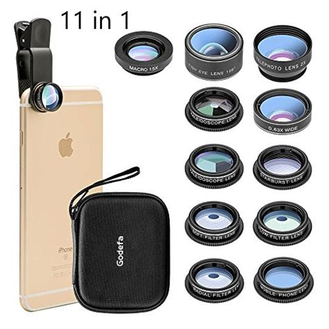 phone lens 4 in 1 cell phone lens kit 18x zoom telephoto lens fisheye lens