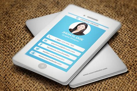 iphone style business card business card templates on