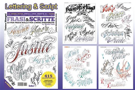 tattoo lettering books lettering script flash book 66 pages lettering