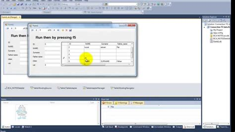 Grid Layout Visual Studio 2010 | visual studio 2010 ms access using data source and data