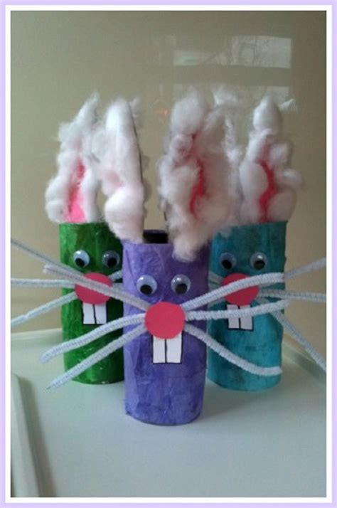 Toilet Paper Easter Bunny Craft - top 10 interesting easter crafts for top inspired
