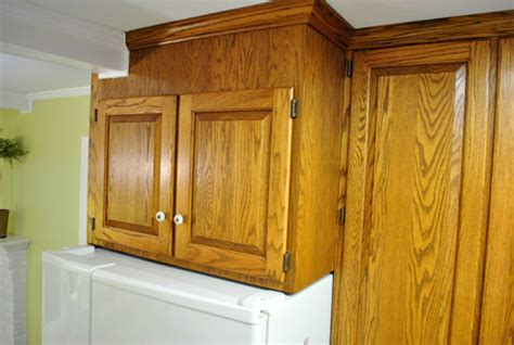 Cabinet Above Fridge Dabbling In Demo Young House Love