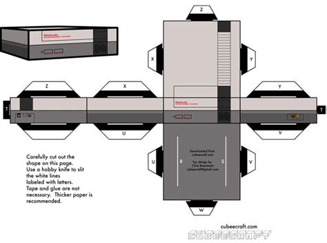 Nes Papercraft - papercraft nes is unplayable due to lack of cardboard