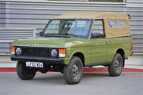 convertible land rover vintage custom 1995 range rover conversion for sale on bat