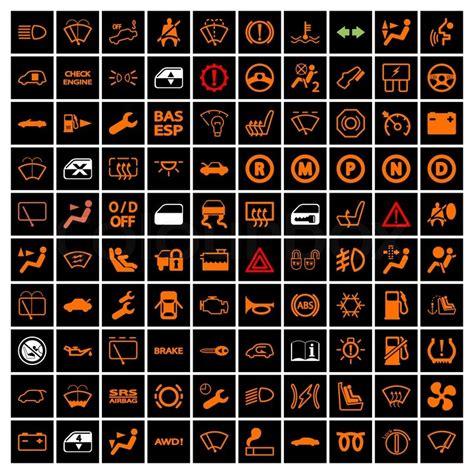 mitsubishi motors stock symbol car dashboard icons stock vector colourbox