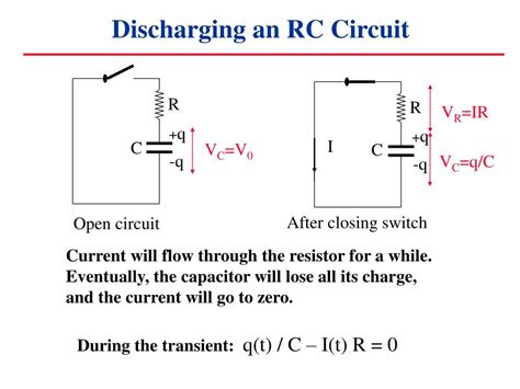 charging and discharging of capacitor in rc circuits ppt capacitors in circuits powerpoint presentation id 6906