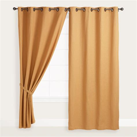Gold Grommet Curtains Gold Bori Cotton Grommet Top Curtains Set Of 2 World Market